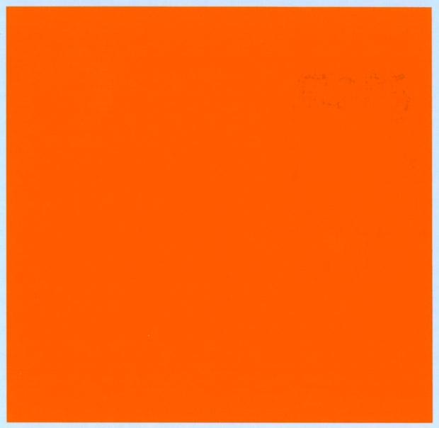 バルケッタ カラーデカール フォースオレンジ 13cm × 13cm bd-009