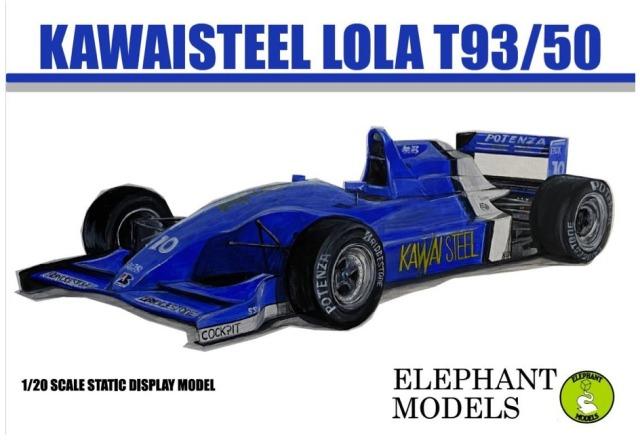 エレファントモデル 1/20 3Dプリントキット ローラ T93/50 カワイスチール 無限MF308 F3000 H.H.フレンツェン フルディティールキット  EM2003