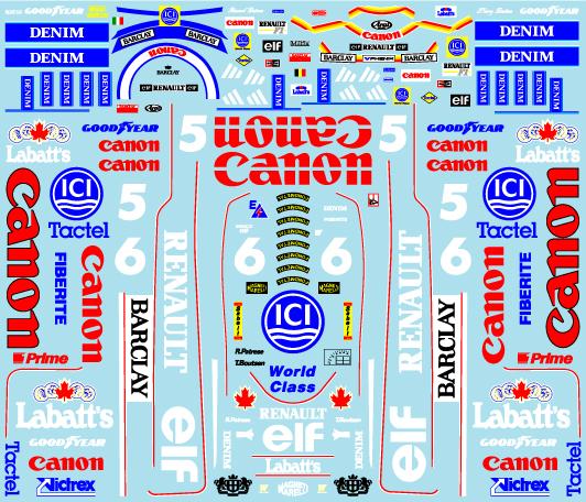 ミュージアムコレクション 1/20 ウィリアムズ FW13 & レーシングスーツ フルスポンサーデカール タミヤ対応 MC-D1001