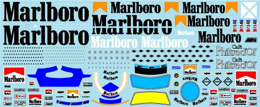 ミュージアムコレクション 1/20 マクラーレン MP4/2B マルボロ & レーシングスーツ タバコデカール アオシマ対応 MC-D1002