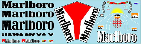 ミュージアムコレクション 1/20 フェラーリ F2001 マルボロ タバコデカール タミヤマスターワーク対応 MC-D1006