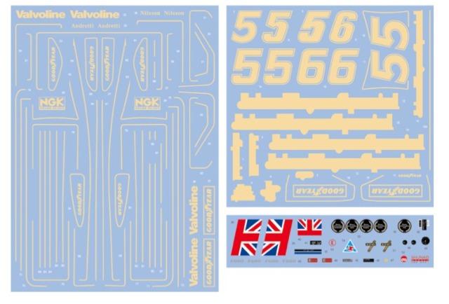 シュンコーモデル 1/12 ロータス 78 1977 JPS フルスポンサーデカール SHK-D421