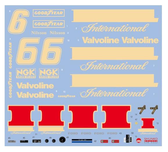 シュンコーモデル 1/12 ロータス 78 1977 インペリアル フルスポンサーデカール SHK-D422