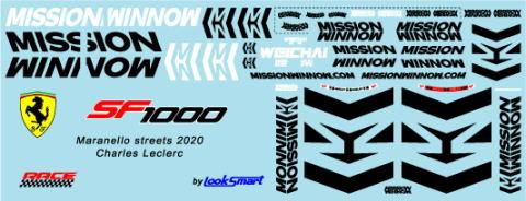 ミュージアムコレクション 1/18 フェラーリ SF1000 バルセロナテスト MISSON WINNOW デカール ルックスマート対応 MC-D998