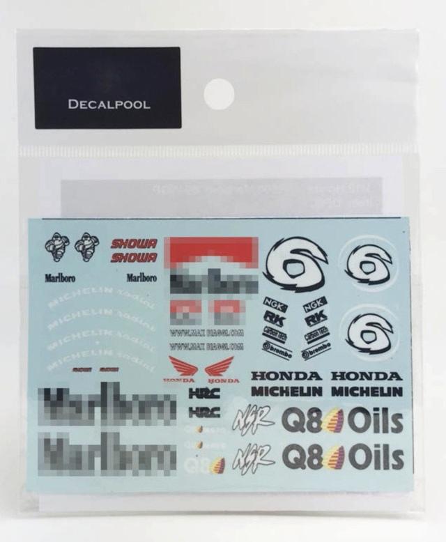 [予約] DecalPool 1/12 ホンダ NSR500 マルボロ WGP 1998 No.6 フルスポンサーデカール タミヤ対応 DP001