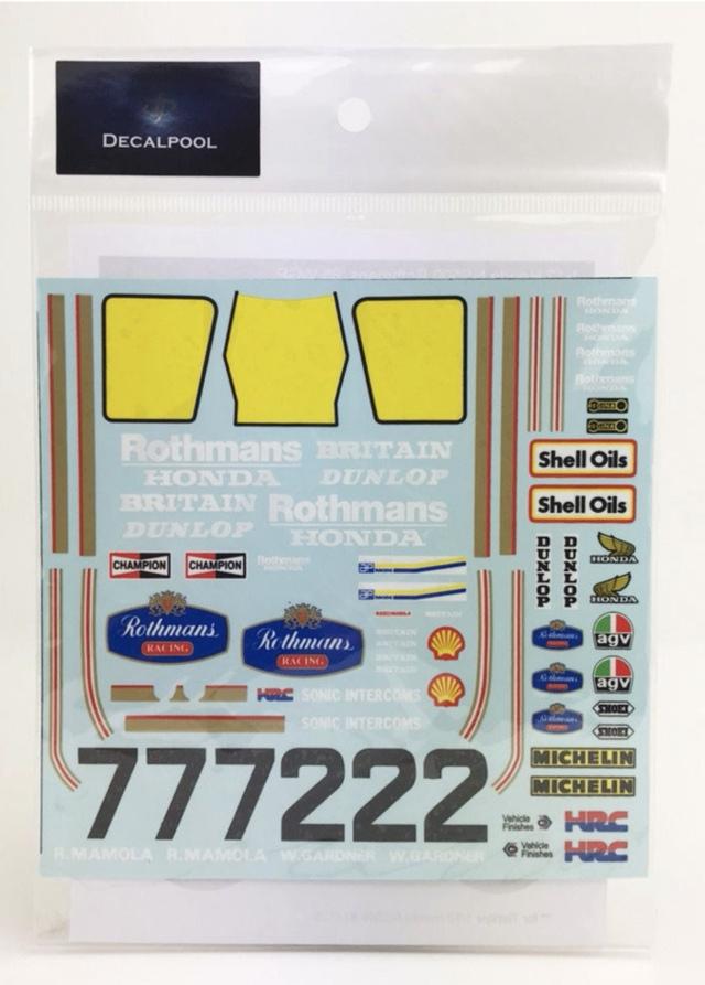 [予約] DecalPool 1/12 ホンダ NSR500 ロスマンズ WGP 1985 No.2/7 フルスポンサーデカール タミヤ対応 DP036