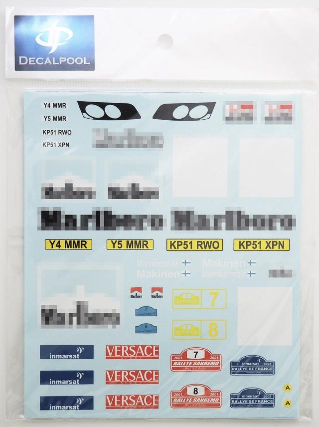 [予約] DecalPool 1/24 ミツビシ ランサー Evo.7 WRC サンレモ マルボロデカール タミヤ対応 DP073