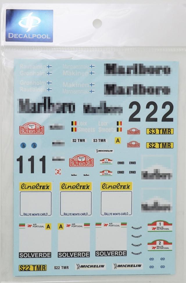 [予約] DecalPool 1/24 ミツビシ ランサー Evo.6 WRC モンテカルロ / TAP ポルトガル 1999 フルスポンサーデカール タミヤ対応 DP074