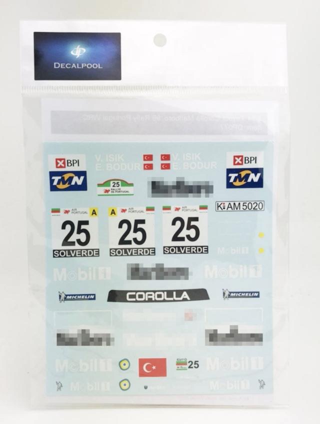 [予約] DecalPool 1/24 トヨタ カローラ WRC ポルトガル マルボロデカール タミヤ対応 DP077