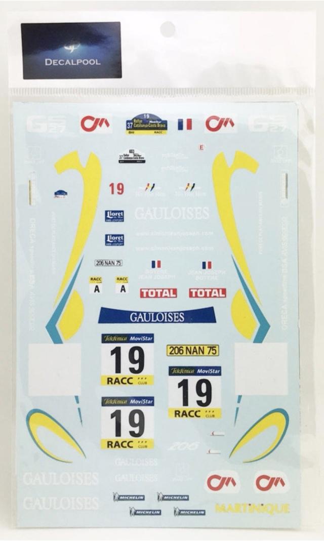 [予約] DecalPool 1/24 プジョー 206 WRC カタルニア 2001 No.19 フルスポンサーデカール タミヤ対応 DP088