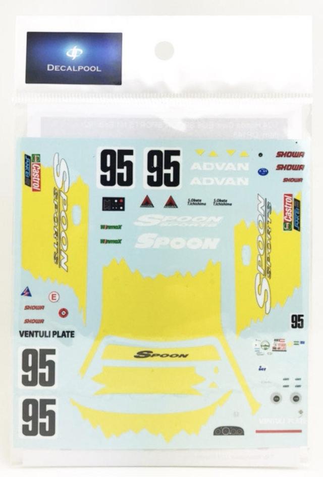 [予約] DecalPool 1/24 1/24 ホンダ シビック EG6 スプーンスポーツ N1 エンデュランス 1992 No.95 フルスポンサーデカール ハセガワ対応 DP143