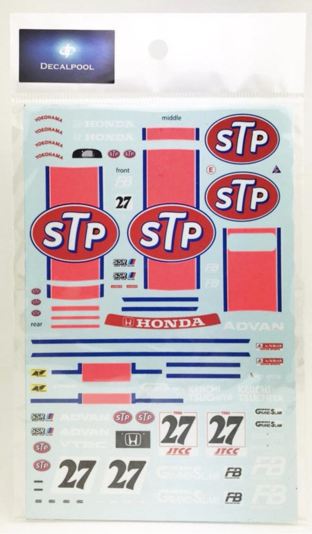 [予約] DecalPool 1/24  ホンダ シビック EG9 STP チーム土屋圭一 JTCC 1994 No.27 フルスポンサーデカール ハセガワ対応 DP146