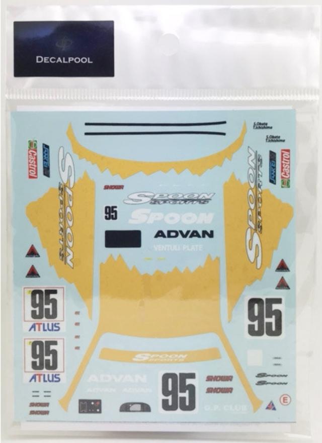 [予約] DecalPool 1/24 ホンダ シビック EG9 スプーンスポーツ マカオ ギア 1995 No.95 フルスポンサーデカール レジンパーツセット ハセガワ対応 DP148