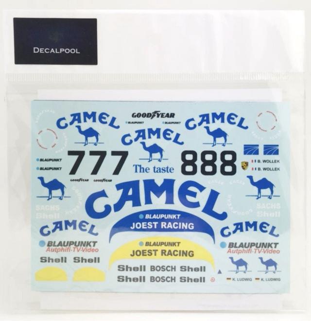 [予約] DecalPool 1/24 ポルシェ 962C キャメル キャラミ 500km 1987 No.7/8 フルスポンサーデカール タミヤ対応 DP153