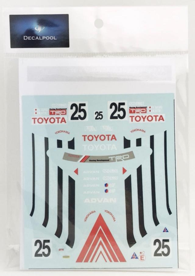 [予約] DecalPool 1/24 トヨタ カローラ レビン AE101 アドバン インターテック Gr.A 1992 No.25 フルスポンサーデカール ハセガワ対応 DP162