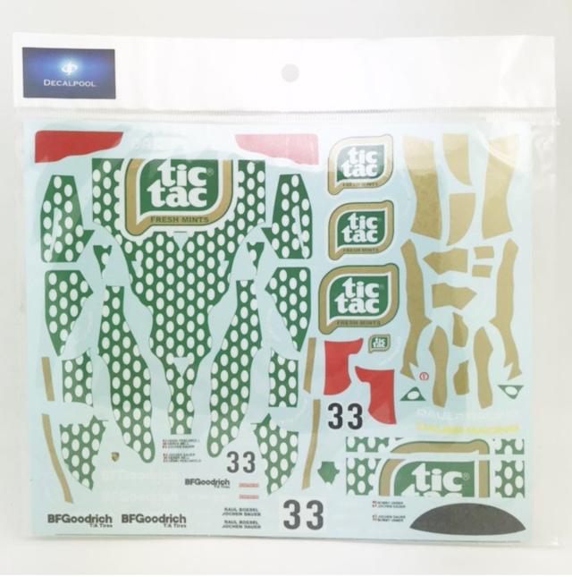[予約] DecalPool 1/24 ポルシェ 632C ティクタック シルバーストーン 1990 No.33 フルスポンサーデカール タミヤ対応 DP167