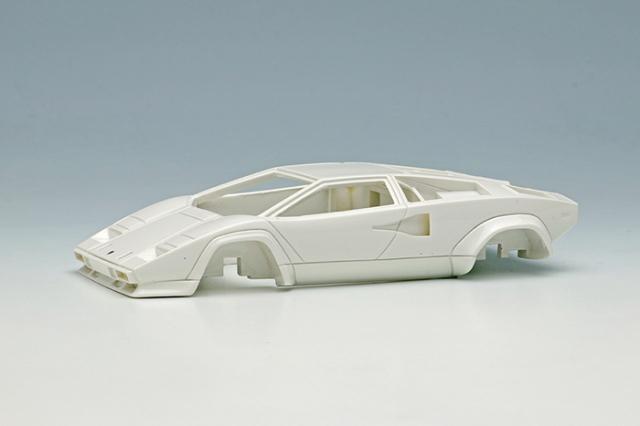 [予約] アイドロン 1/43 ランボルギーニ カウンタック LP400S US モディフィケーション 1981 ホワイト (ブラックインテリア)  (限定30台) EM506B