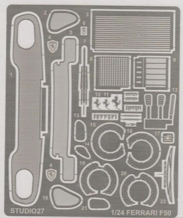 スタジオ27 1/24 フェラーリ F50 ディティールアップパーツ タミヤ対応 FP2471R