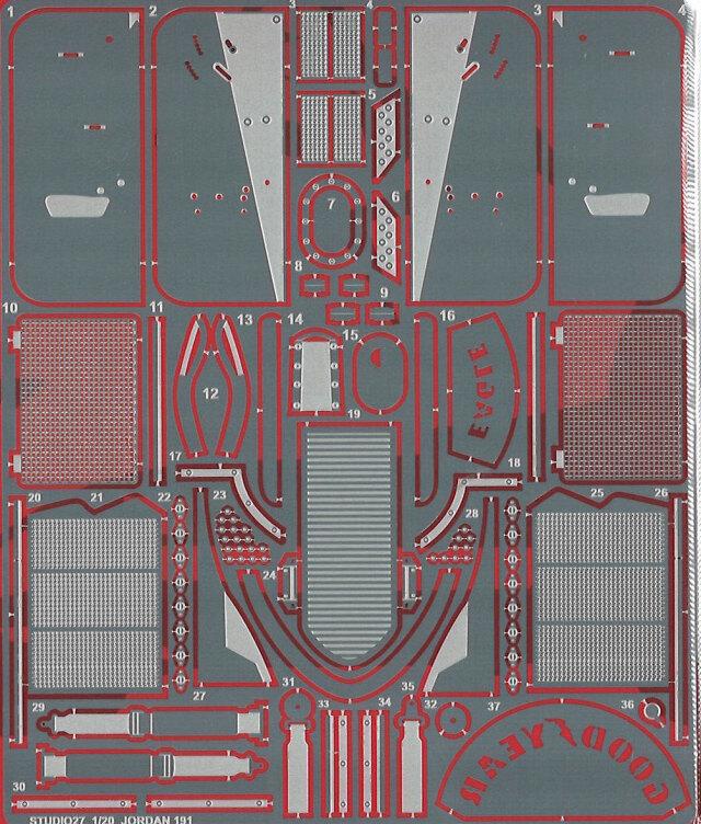 スタジオ27 1/20 ジョーダン 191 ディティールアップパーツ タミヤ対応 FP2045