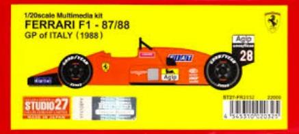 スタジオ27 1/20 レジンキット フェラーリ F187/88C イタリアGP 1988 FR2032