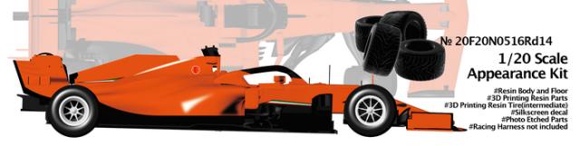 ニュースクラッチ 1/20 レジン&3Dパーツキット 跳ね馬 SF1000 トルコ GP 2020 インターミディエイトタイヤ仕様 20F20N0516Rd14