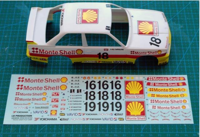 "LBプロダクション 1/24 BMW M3 E30 ""Monte Shell"" ITCC 1989 No.18 フルスポンサーデカール (プラッツ/NuNu対応) LB24035"