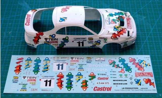 "LBプロダクション 1/24 トヨタ セリカ ST185 Gr.A ""Tein Sport"" インドネシア ラリー 1996 No.11 フルスポンサーデカール LB24036"