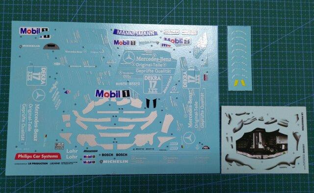 LBプロダクション 1/24 メルセデス AMG Cクラス DTM Original-Teile 1995  フルスポンサーデカール LB24048