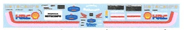 ミュージアムコレクション 1/12 ホンダ モトコンポ ロスマンズ フルスポンサーデカール (アオシマ対応) MC-D1009