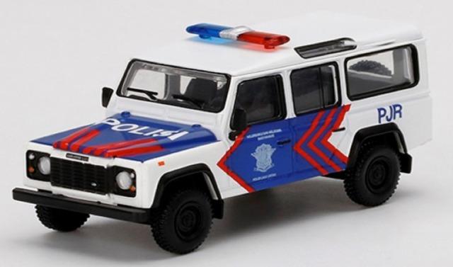 [予約] MINI-GT 1/64 ランドローバー ディフェンダー 110 Korlantas インドネシア国家交通警察(右ハンドル)インドネシア限定 MGT00157-R