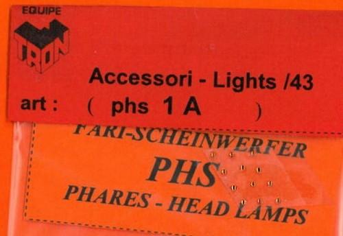 トロン ライトレンズ オレンジ 丸形 1mm 12個入り phs01A