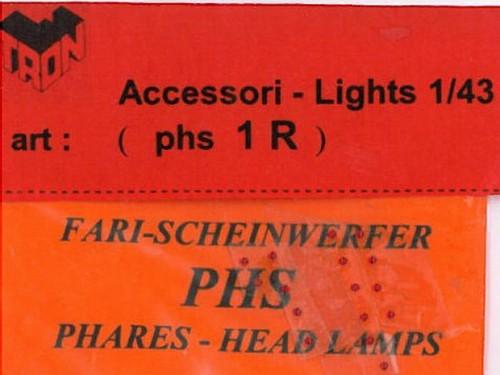 トロン ライトレンズ レッド 丸形 1mm 12個入り phs01R