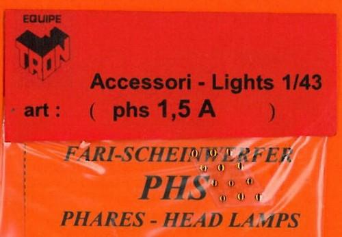 トロン ライトレンズ オレンジ 丸形 1.5mm 12個入り phs01_5A