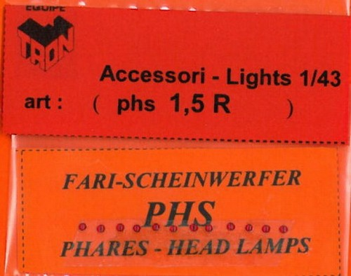 トロン ライトレンズ レッド 丸形 1,5mm 12個入り phs01_5R