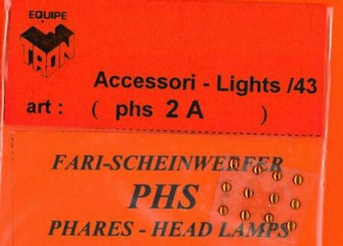 トロン ライトレンズ オレンジ 丸形 2mm 12個入り phs02A
