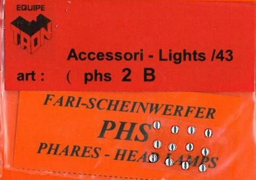 トロン ライトレンズ クリアー 丸形 2mm 12個入り phs02B
