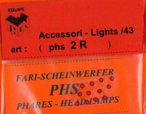 トロン ライトレンズ レッド 丸形 2mm 12個入り phs02R