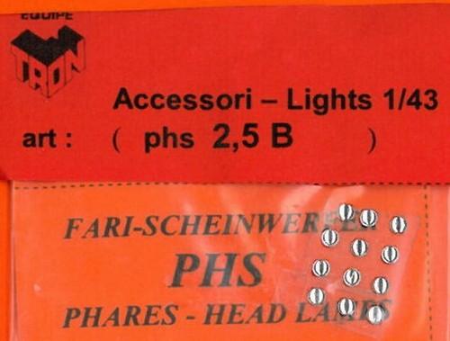 トロン ライトレンズ クリアー 丸形 2,5mm 12個入り phs02_5B