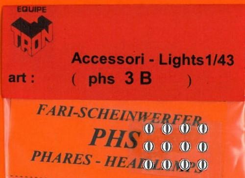 トロン ライトレンズ クリアー 丸形 3mm 12個入り phs03B