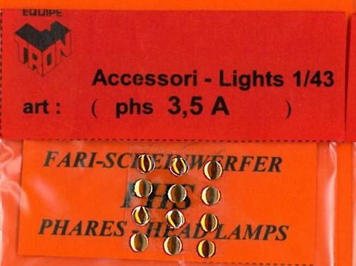 トロン ライトレンズ オレンジ 丸形 3,5mm 12個入り phs03_5A