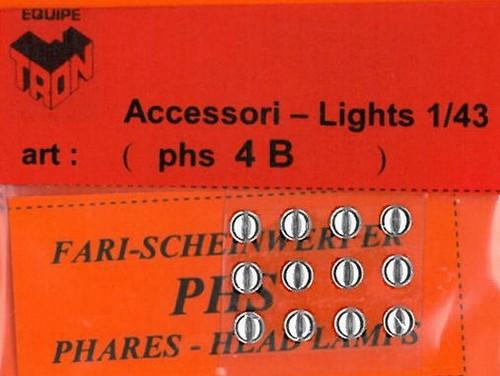トロン ライトレンズ クリアー 丸形 4mm 12個入り phs04B