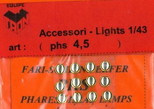 トロン ライトレンズ クリアー 丸形 4,5mm 12個入り phs04_5B