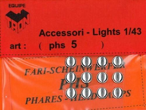 トロン ライトレンズ クリアー 丸形 5mm 12個入り phs05B