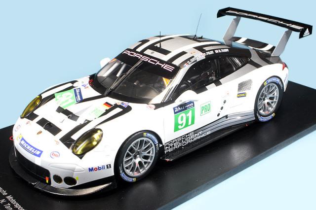スパーク 1/18 ポルシェ 991 RSR ルマン 24h 2016 LM-GTE Pro No.91 18S274
