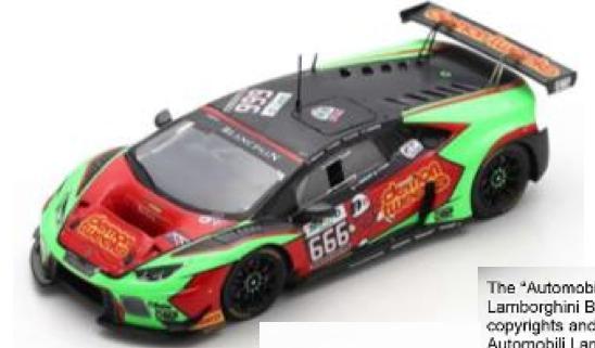 [予約] スパーク 1/43 ランボルギーニ ウラカン GT3 スパ 2016 No.666 SB294
