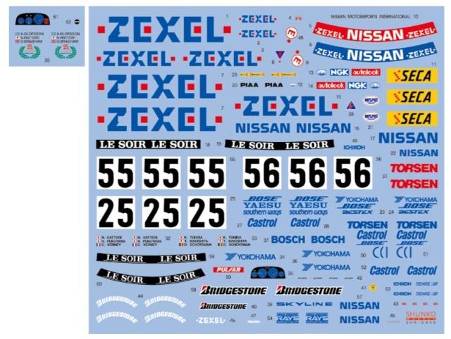 シュンコーモデル 1/24 ゼクセル スカイライン R32 GT-R 1990 1991 フルスサポンサーデカール ミタヤ対応 SHK-D440