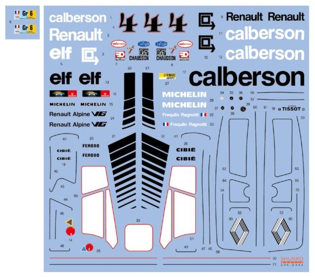 シュンコーモデル 1/24 ルノー アルピーヌ カルベルソン A442A ルマン 1978 No.4 フルスポンサーデカール タミヤ対応 SHK-D444