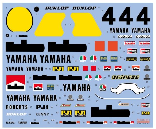 シュンコーモデル 1/12 ヤマハ YZR 500 0W70 WGP マルボロ 1983 K.ロバーツ フルスポンサーデカール タミヤ対応 SHK-D445