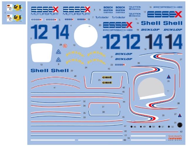 シュンコーモデル 1/20 ポルシェ 936/78 エセックス ルマン 1979 No.12/14 フルスポンサーデカール タミヤ対応 SHK-D446