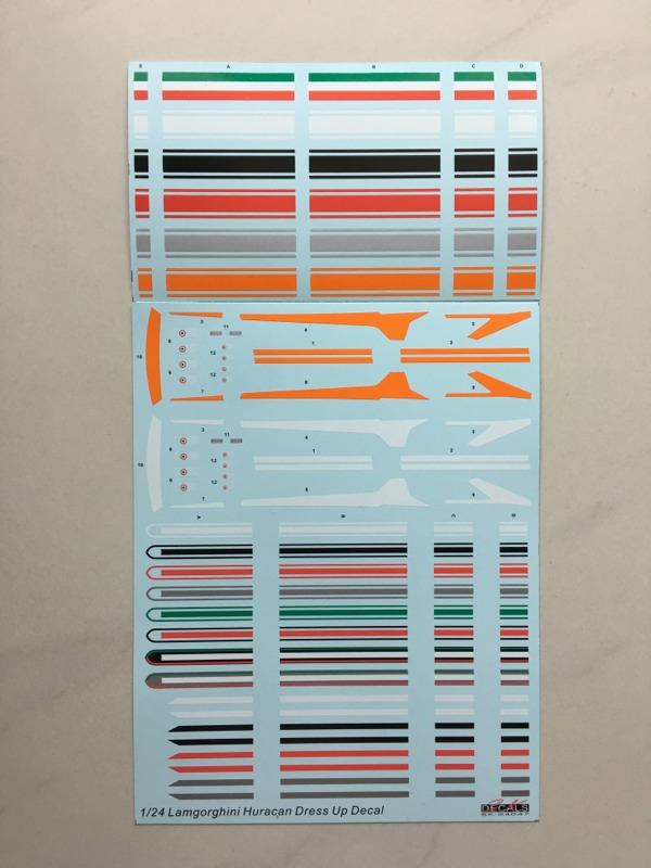 SK Decal 1/24 ランボルギーニ ウラカン ドレスアップデカール (アオシマ対応) SK24047